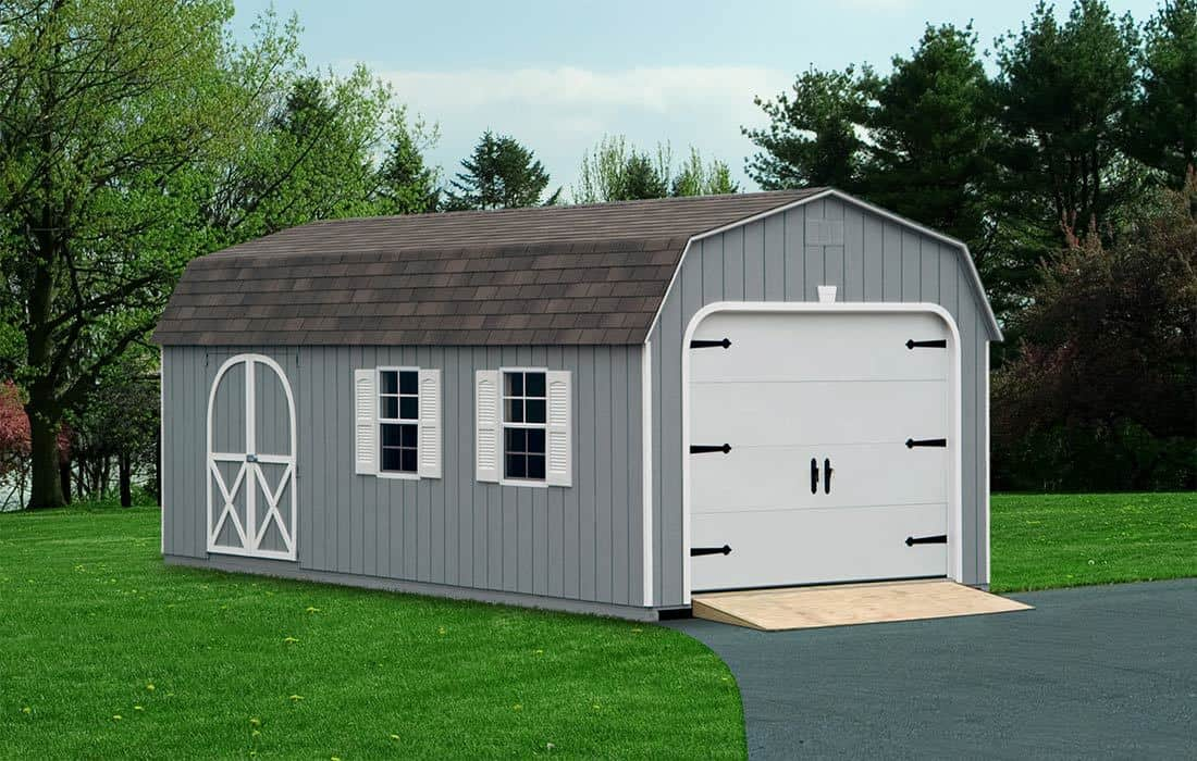 Colonial Dutch Barn Garage