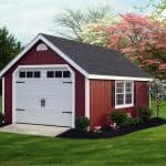 Classic Wood Garage red