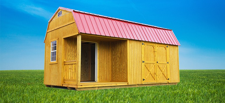 Pre built backyard outfitters brand storage sheds for Pre built sheds