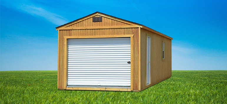 Pre built backyard outfitters brand storage sheds for Pre built storage sheds